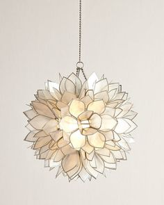 Horchow Flower Burst 1-Light Mini Pendant