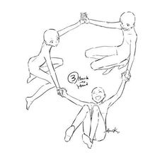 draw the squad - trio Drawing Base, Manga Drawing, Figure Drawing, Three Best Friends, Drawing Templates, Poses References, Drawings Of Friends, Art Poses, Drawing Reference Poses