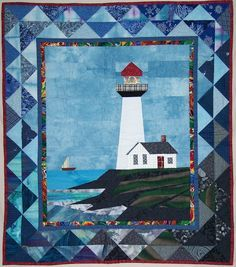Freezer paper piecing!   Quilt Pattern:  Pigeon Point Lighthouse on The CraftStar @TheCraftStar #uniquegifts