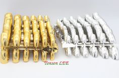 1200pcs/Lot Nail Art Display Full Cover False Nail Tips Silver/Gold Metal Fake Nails Extension Decorated Manicure Accessories