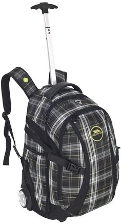"TRESPASS ROLLO Tartan Trolley Backpack Rucksack Bag on Wheels + Handle 36L 22"" in Home, Furniture & DIY, Luggage & Travel Accessories, Luggage 