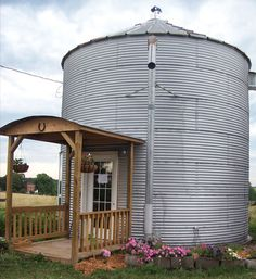 Leave it to Mother Earth News to find this story. From Grain Bin to Bed and Breakfast