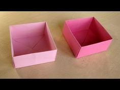 Praktisch für anfallende Stoffreste oder Fäden - ohne Klebstoff:  Schachtel mit Deckel basteln mit Papier - Origami Box falten - Basteln Ideen - YouTube
