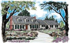 Cape Cod House Plan with 2645 Square Feet and 4 Bedrooms(s) from Dream Home Source | House Plan Code DHSW44872