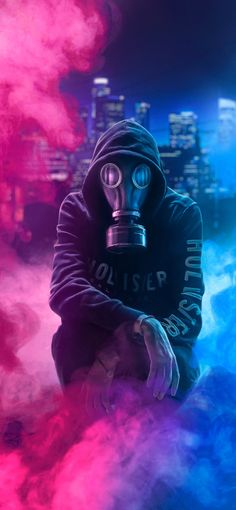 Cool Anime Girl With Mask Wallpaper Cool Wallpapers For Guys, Iphone Wallpaper For Guys, Hd Phone Wallpapers, Dope Wallpapers, Desktop Backgrounds, Gas Mask Art, Masks Art, Gas Masks, Smoke Wallpaper