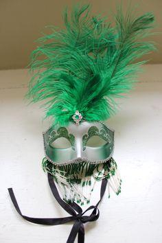 Green Marti Gras mask
