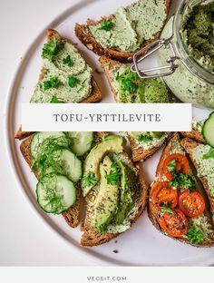 Vege it! - Avocado Toast, Tofu, Hummus, Breakfast, Morning Coffee