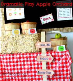 Dramatic Play Apple Orchard Printables and apple book ideas
