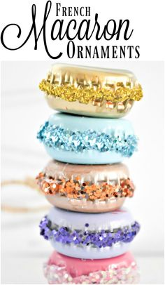 These are such adorable little DIY French macaron ornaments. Such a great idea and they have SO many uses!