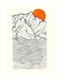'The Orange Sun' Art Print by steveswade - Kunstunterricht Pop Art, Galaxy Art, Canvas Prints, Art Prints, Art Plastique, Line Art, Art Reference, Art Drawings, Illustration Art