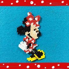 Minnie I made this design. Miyuki delicabeads. ミニーちゃん 図案を考えてデリカビーズで 作りました。 ##ビーズ#ビーズステッチ#デリカビーズ#シェイプドステッチ#パーツクラブファン#ブティック社#miyuki#delicabeads#beadsworks#disneypic #disney #ディズニー #ディズニービーズ #ミニー #minnie #ミニーちゃん #miyukibeads #miyukidelica #shapedstitch #bead#delica