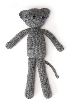 Coco the Cat  - Free Amigurumi Pattern - PDF File Instant download here:  http://www.crochettoday.com/files/patterns-pdf/CocotheCat.pdf