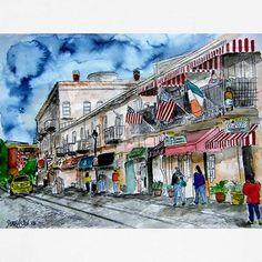 River Street Savannah GA   Savannah Georgia River Street Hoodie by savannah_art