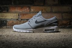 "Nike SB adds to its stable of tonal takes on the Stefan Janoski Max with a ""Cool Grey"" edition of th..."