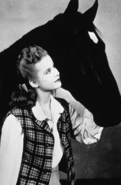 "Black Beauty (1946) - Registered Saddlebred ""Highland Dale"" starred as Beauty with Mona Freeman as Anne Wendon. Highland Dale has one of the most extensive filmography of any animal in Hollywood (see IMDb)."