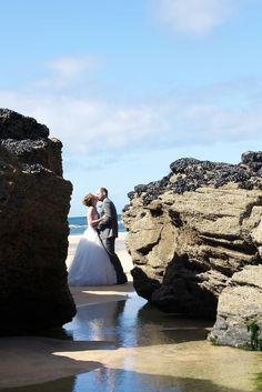Lovely beach wedding photography location in Cornwall by Mark Noall Photography  #beach #wedding #photographer #Cornwall #stives