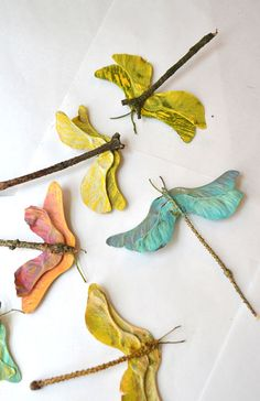 DIY Maple Seed Craft - Church Street Designs Blog - Maple Seed Dragonfly | Small for Big