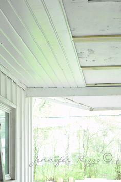 Renewing A Porch Ceiling With Fascia Patio Ideas