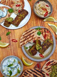 Jamie Oliver's vegan Kofte. Recipe: http://www.jamieoliver.com/recipes/vegetables-recipes/my-special-vegan-kofte