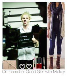 """""""On The Set Of Good Girls With Mickey"""" by hazzgirl03 ❤ liked on Polyvore"""