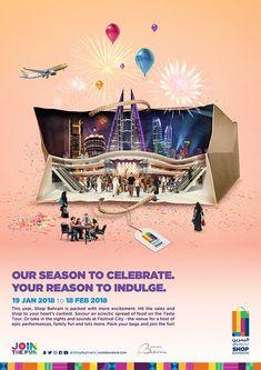 Shop Mall Bahrain on Behance Ad Design, Advertising Design, Graphic Design Inspiration, Shopping Mall, Creative Design, Behance, Social Media, Billboard, Flyers