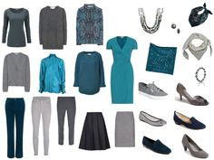 capsule+travel+wardrobe+in+teal+blue+and+grey.jpg 960×720 pixels