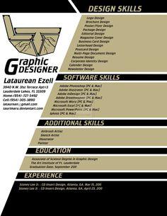My Graphic Design Resume By ~Taurimaru On DeviantART