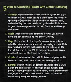5 Steps to Generating Results with Content Marketing - A snippet from the Content4Demand E-book