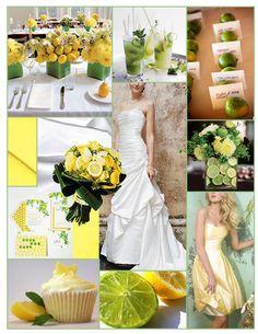 Green, Yellow, Inspiration, Board, Cupcakes, Limes, Lemons, Davids bridal, Alvina valentina, Lemon lime