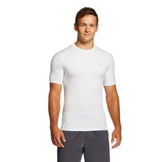 Men's Powercore Compression Shirt White Xxl - C9 Champion