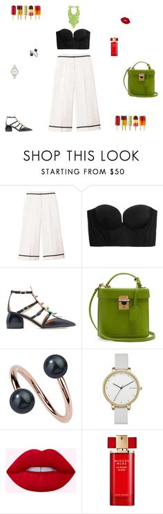 """Green touch"" by mariagraziatrotta ❤ liked on Polyvore featuring SemSem, Cosabella, Anya Hindmarch, Mark Cross, Paul Frank, Skagen and Estée Lauder"