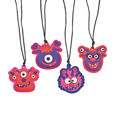 Valentine Monster Necklaces - OrientalTrading.com