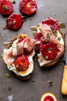 New Year's Eve Appetizers, Appetizer Recipes, Brunch, Schnitzel Pizza, Toast Pizza, Clean Eating, Recipe For 2, Half Baked Harvest, Ricotta