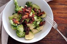 broccoli, avocado & bacon salad