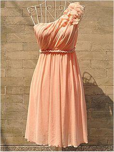 Charming Sweetheart one shoulder petals bridesmaid dress/homecoming dress | Cheap homecoming dresses Sale