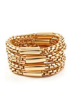 Gold on Gold Madden Bracelet