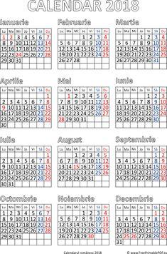 Calendarul 2018 Română