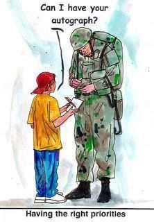 I will NEVER forget the little boy who asked if he could shake Rays hand right after Ray got off the plane coming home from Iraq in 2009~ Ray took his wings off his uniform and gave them to the boy.  Teaching our children the importance of our freedom is so important.