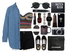 Untitled #937 by clary94 on Polyvore featuring M.i.h Jeans, Topshop, Boohoo, Vans, Monki, Maison Margiela, ROSEFIELD, Ray-Ban, The Giving Keys and NARS Cosmetics