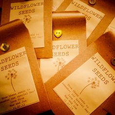 Handmade Wedding Favours - Wildflower Seeds by Stables Home and Garden