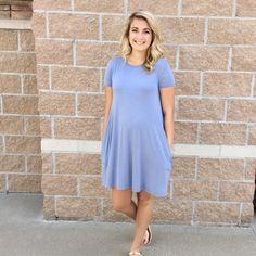 Serenity Blue Piko Dress