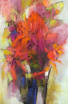 Red Bouquet 22x15 pastel on paper by Debora L. Stewart