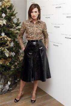 Fetish, Fashion, and nice Ladys: Archiv Long Leather Skirt, Black Leather Skirts, Leather Dresses, Latex Fashion, Fetish Fashion, Pvc Skirt, Dress Skirt, Look Fashion, Skirt Fashion