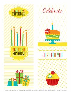 etro Happy Birthday Printable Labels Set