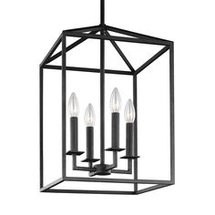Sea Gull Lighting Perryton 12.25-in Blacksmith Rustic Single Cage Pendant