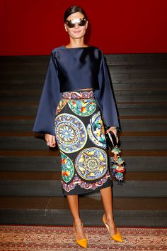 Dolce & Gabbana Spring 2015 Ready-to-Wear - Front-row - Gallery - Style.com