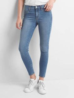 Mid rise easy ankle jeggings