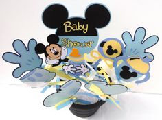 Baby Shower Mickey Mouse Themed Party Centerpiece Sticks Set of 10 It's A Boy