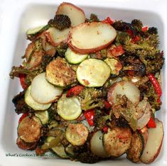 What's Cookin' Italian Style Cuisine: Garlic Parmesan Crusted Roasted Vegetable Recipe
