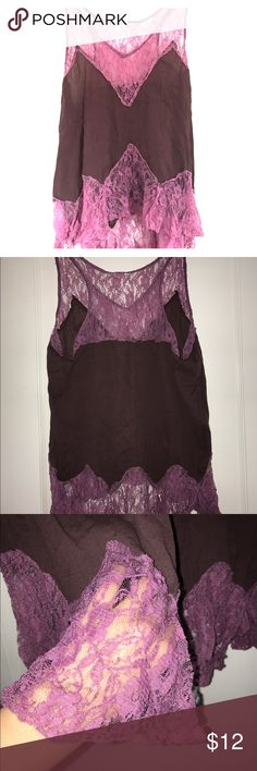 Lace Freepeople top Light weight purple free people top Free People Tops Tank Tops